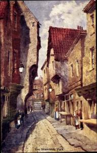 Künstler Ak York Yorkshire, The Shambles