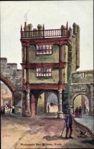 Künstler Ak Guy, T., , York Yorkshire, Walmgate Bar Within
