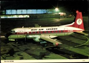 Ak Dan Air London HS 748 Passagier Flugzeug, Hawker Siddeley 748 prop jet, Rolls Royce Dart Motoren