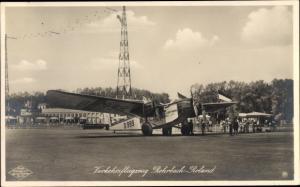 Foto Verkehrsflugzeug Rohrbach-Roland D 999, 1930, Lufthansa, Flughafen Berlin Tempelhof