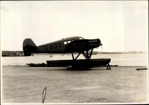 Foto Wasserflugzeug Globetrotter D 833 in Kiel Holtenau