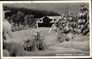 Ak Stützerbach Ilmenau Thüringer Wald, Am Auerhahn, Winter