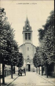 Ak Saint Gratien Val d'Oise, L'Eglise