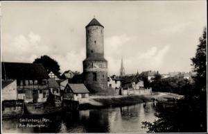 Ak Gryfice Greifenberg Pommern, Partie am Pulverturm