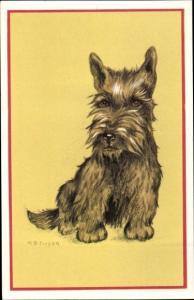 Künstler Ak Cooper, M. B., Hundeportrait, Terrier