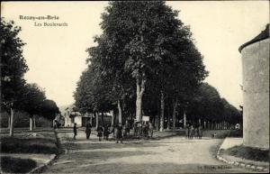 Ak Rozoy en Brie Seine et Marne, Les Boulevards