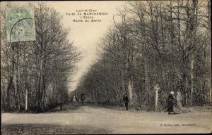 Ak Marchenoir Loir et Cher, L'Etoile, Route du Baron