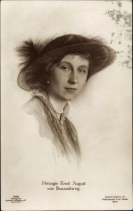 Ak Prinzessin Victoria Luise von Preußen, Herzogin von Braunschweig, Portrait