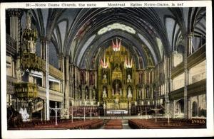 Ak Montreal Québec Kanada, Eglise Notre Dame, la nef