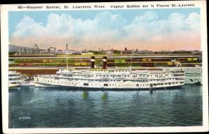 Ak Kanada, Steamer Quebec, St. Lawrence River