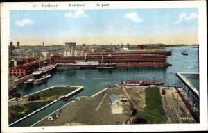 Ak Montreal Québec Kanada, Harbour, Hafen