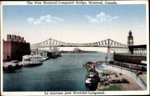 Ak Montreal Québec Kanada, New Montreal Longueuil Bridge