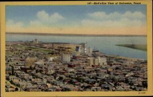 Ak Galveston Texas USA, Blick auf den Ort, Fliegeraufnahme
