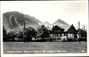 Ak Reutte in Tirol, Gasthof Schluxen, Plattjoch, Vilser Kögl
