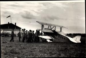 Foto Walter Hahn, Vagel Grip Greif Sp5 Flugzeug, D-664, Sachsen Rundflug, Flughafen Dresden Kaditz