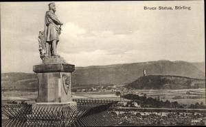 Ak Stirling Schottland, Bruce Statue