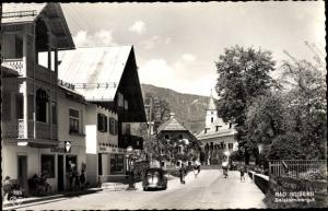 Ak Bad Goisern am Hallstättersee in Oberösterreich, Salzkammergut, Straßenpartie