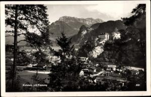 Ak Kufstein in Tirol, Panorama mit Festung