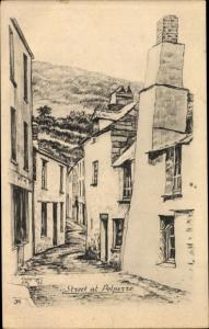 Künstler Ak Polperro Cornwall, Street