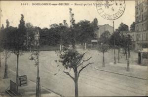 Ak Boulogne sur Seine Hauts de Seine, Rond-Point Victor Hugo