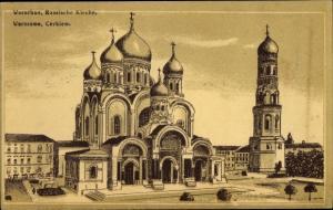 Künstler Ak Warszawa Warschau Polen, Russische Kirche