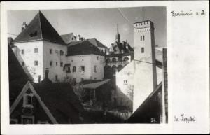 Foto Ak Braunau am Inn in Oberösterreich, Gartenpartie