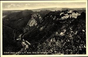 Ak Hochstetten Dhaun Hunsrück, Blick auf das Schloss Daun, Kellenbachtal
