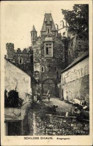 Ak Hochstetten Dhaun Rheinland Pfalz, Schloss, Eingangstor