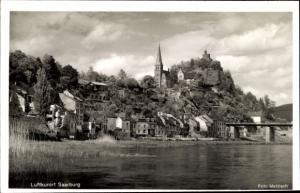 Ak Saarburg Saar bei Trier Rheinland Pfalz, Teilansicht, Burg