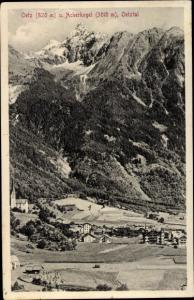 Ak Oetz im Oetztal Tirol, Oetz und Acherkogel