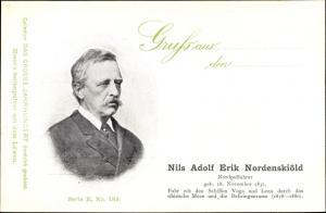 Ak Nild Adolf Erik Nordenskiöld, Nordpolfahrer, Das große Jahrhundert
