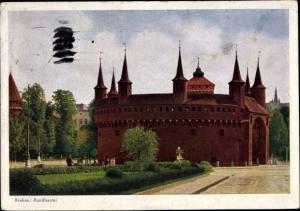 Ak Kraków Krakau Polen, Rundbastel