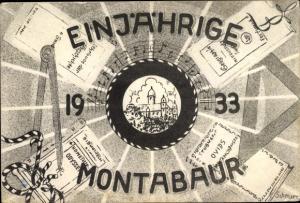 Studentika Ak Montabaur Rheinland Pfalz, Einjährige Montabaur, Zirkel, Dreieck