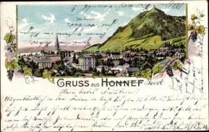 Litho Bad Honnef am Rhein, Blick auf den Ort