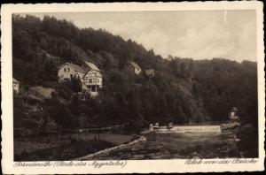 Ak Ründeroth Engelskirchen im Oberbergischen Kreis, Blick von der Brücke, Aggertal, Wehr