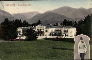 Ak Bad Ischl in Oberösterreich, Kaiserliche Villa, Portrait Kaiser Franz Josef