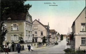 Ak Kandel in der Pfalz Bienwald, Bahnhofstraße
