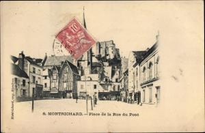 Ak Montrichard Loir et Cher, Place de la Rue du Pont