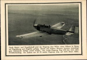 Ak Flugzeug, Deutscher Luftfahrt Verband, Werbung für Privatspenden
