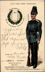 Regiment Ak Füsilier Bataillon Garde Grenadier Regiment No. 5 Spandau, Soldat in Uniform