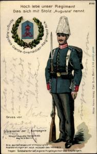 Regiment Litho Königin Augusta Garde Grenadier Regiment Nr. 3, Soldat in Uniform