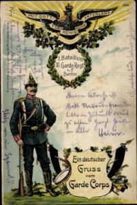 Regiment Litho 1. Bataillon III. Garde Regiment zu Fuß Berlin, Soldat in Uniform