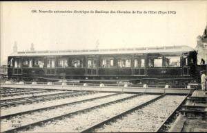 Ak Nouvelle automotrice electrique de Banlieue des Chemins de Fer de l'Etat, Type 1912