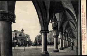 Ak Kraków Krakau Polen, Hauptring, St. Adalbert Kirche