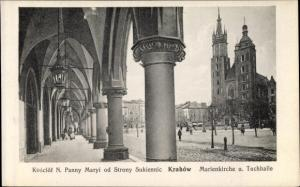 Ak Kraków Krakau Polen, Marienkirche, Tuchhalle