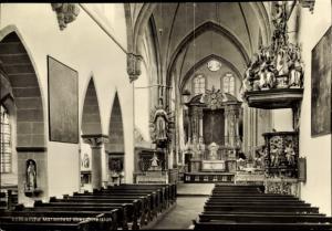 Ak Marienfeld Harsewinkel Westfalen, Abteikirche, Innenansicht