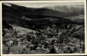 Ak Karpacz Krummhübel im Riesengebirge Schlesien, Gesamtansicht