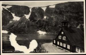 Ak Karpacz Krummhübel im Riesengebirge Schlesien, Kleiner Teich