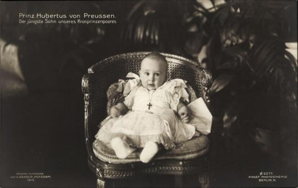 Ak Porträt, Prinz Hubertus von Preussen, Der Jüngste Sohn unseres Kronprinzenpaares 0