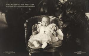 Ak Porträt, Prinz Hubertus von Preussen, Der Jüngste Sohn unseres Kronprinzenpaares